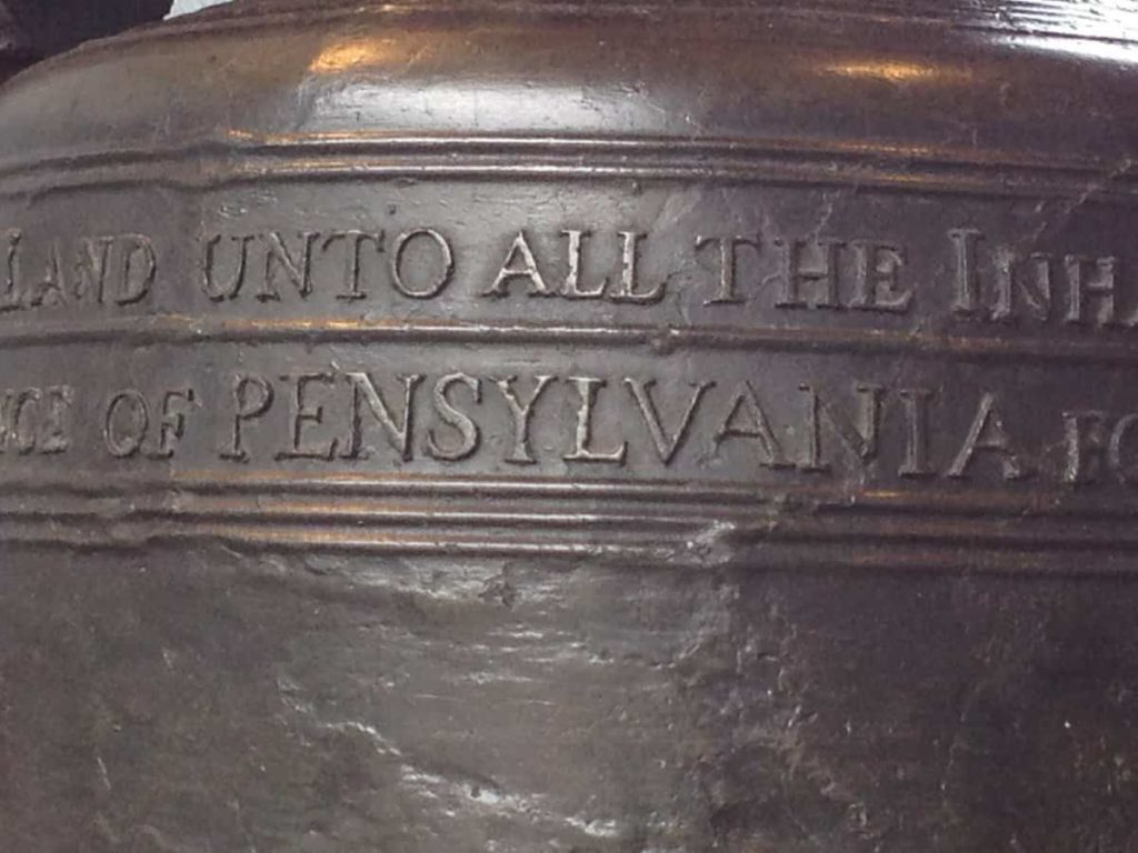 Misspelled Liberty Bell